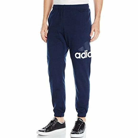 Men's Adidas Joggers Blue Size Medium